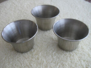 NEW SET of 3 MATCHING VOLLRATH STAINLESS STEEL INDIV. SAUCE CUPS