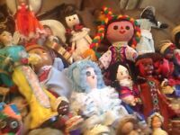Vintage doll collection from around the world