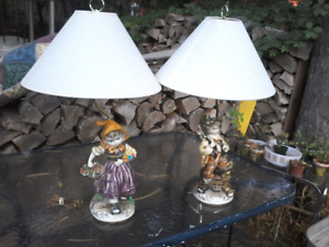Anciennes lampes provenant d 'italy ,