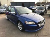 2009 Volvo V50 Sport D 2.0 R Design Leather, Cruise, Alloys, Air Con, 12 Month Mot, Warranty