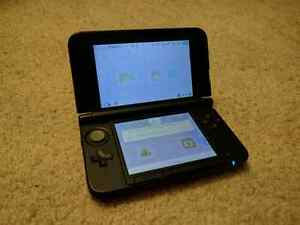 Nintendo 3DS XL Red w/Charger and SD Card - Great Condition!