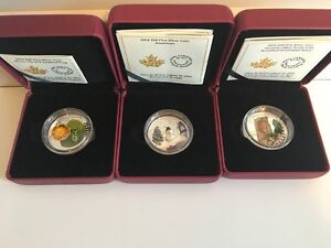 3 Venetian Glass Coins from Royal Canadian MInt