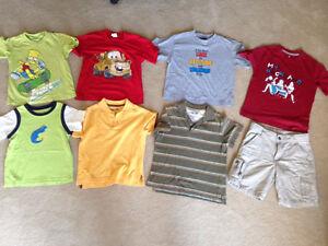 For sale boys clothing. size 5. wrangler shorts plus t-shirts.