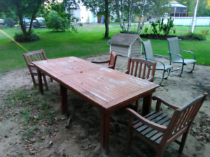 Set de patio en bois