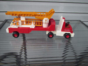 Vintage Fisher Price Fire Truck w/ladders Strathcona County Edmonton Area image 2