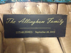 Customized family signs - wedding gift