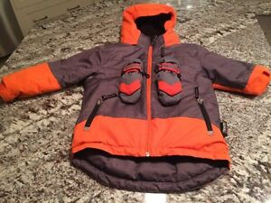 Alpinetek Boys Winter Coat - Size 5 - + Mittens