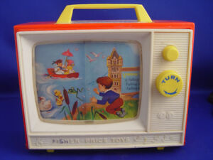 Vintage 1966 Musical TV Fisher Price Toy