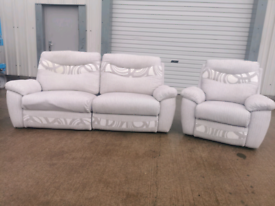 Grey fabric 3 +1 seater recliner sofas couches suite 🚚🚚