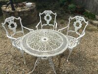 Vintage patio table with 3 chairs
