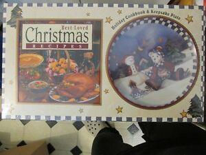 Holiday Cookbook & Keepsake Plate New in Package