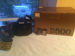 Nikon d500 body with 2 XQD cards