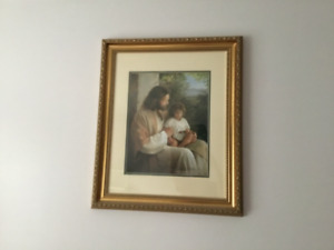 Jesus with child framed picture