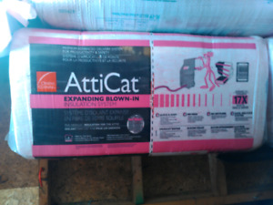 6 bags Blow in insulation. Attic cat BEST OFFERt