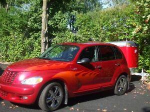 PT CRUISER TURBO GT FOUL ROUGE FEU garder garage chauffer hiver