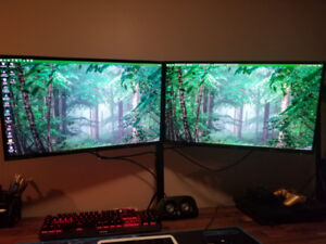 "TWO BenQ - GW2760HS 27.0"" 1920x1080 60Hz Monitor W/ Mount"