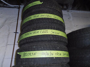 175/65/R14	Michelin 	Snow with rim (2000 Corolla, 4 bolts,4x100)