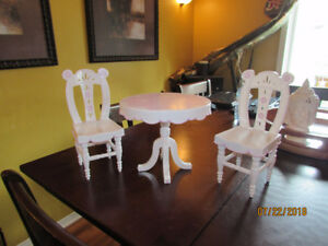 """Our Genderation Plastic Table and Chairs Set Fits 18"""" dolls $25"""