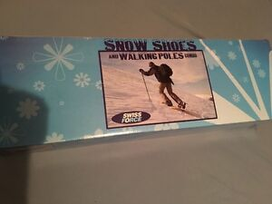 Swiss force snow shoes and poles