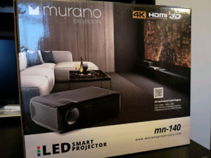 """Murano MN-140 4k 3D LED Projector and 72"""" Screen"""