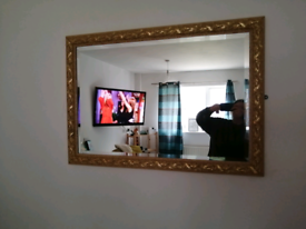 For sale gold mirror it well nice not pine wood a tall I got ur from