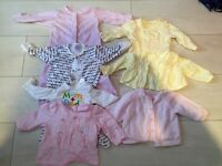 Small baby girls bundle 7 items newborn mostly mothercare , will post for £4