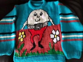 Humpty Dumpty Hand Knitted Jumper