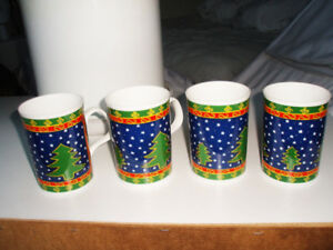 FOUR COFFEE, TEA MUGS, CUPS, PERFECT, NO CHIPS