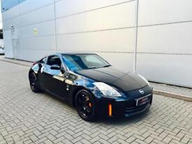 2007 07 reg Nissan 350Z 3.5 V6 GT Pack Coupe Black + Leather + Sat Nav