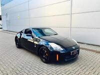 2007 07 reg Nissan 350Z 3.5 V6 GT Pack Coupe Black + Leather + Sat Nav