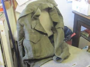 1951 BATTLE DRESS KOREAN WAR SIZE 15 WOOL JACKET $20 ARMY