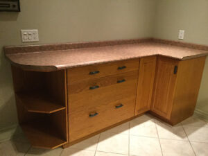 Counter top with drawers and storage