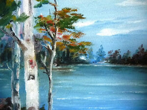 "Original Oil Painting by Mrs. Jack Douglas ""Owen Sound"" 1950 Stratford Kitchener Area image 7"