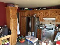 Armoires de cuisine en bois franc