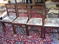 4 VINTAGE CHAIRS GOOD CONDITION