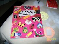 3 Plastic Canvas Sheets wool,cutouts,canvas,Patterns ,Craft Book