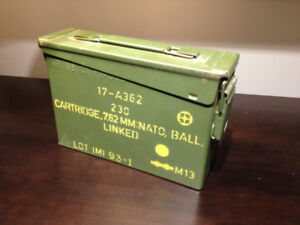 Genuine army/NATO 7.62mm ammo box