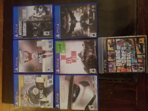 PS4 games and GTA5 for PS3