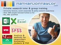 Statistics, Data Analysis & Research Methods - Excel, SPSS, Design - Private Tutor & Group Training