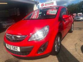 2012 Vauxhall Corsa 1.2 Active 3dr [AC] HATCHBACK Petrol Manual