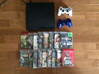 PS3 slim 300gb with 35 games