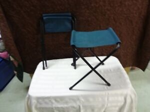 2 Escort folding camping chairs for sale.