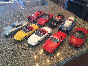 Alfa Romeo spider diecast  car collection ,mostly S4 spiders ,