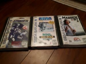 3 Sega Saturn games