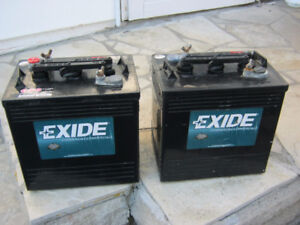 2 RV , Marine or Solar deep cycle 6 volt batteries