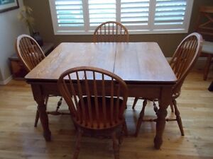 REDUCED PRICE  4 matching solid oak chairs
