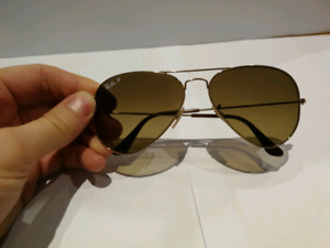 RB 3025 gold frame aviator Ray-Ban polarized sunglasses