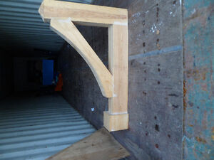 large solid pine corbels