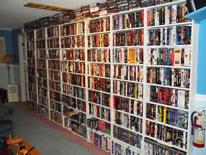 Roughly 1100 Vhs movies