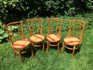 Antique pine ice cream parlour chairs